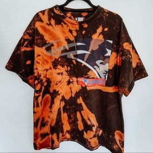 New England Patriots Football Bleached Tie Dye Tee